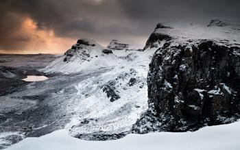Snowy sunrise  Quiraing, Isle of Skye
