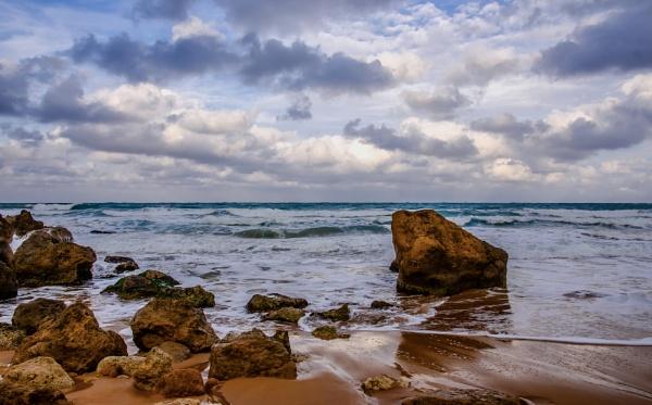 A Rocky Beach by Xandru