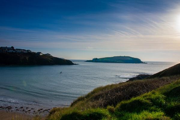 Burgh Island from Challaborough by Sharkman