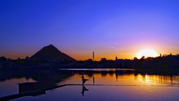 sunset at Pushkar