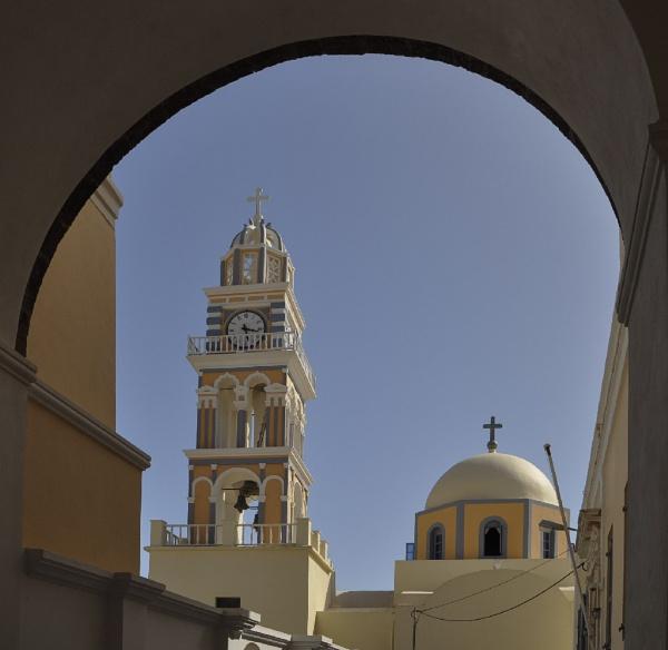 St John Catholic Cathedral,  Santorini by SkySkape