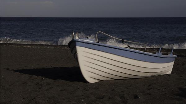 Blue Sky, Blue Sea, Blue Boat. by SkySkape