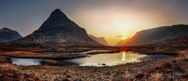 Last light at Lochan na Fola by Tynnwrlluniau