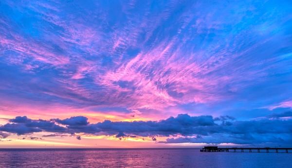 Coloured Sunsrise Deal Pier. by carper123