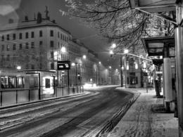 One snowy evening