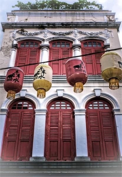 Singapore shophouses by KingBee