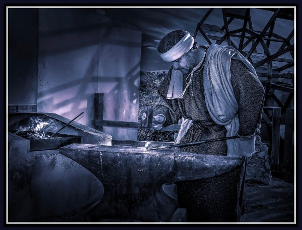 MOONLIGHT IRON-WORKS BY THE FORGE by Edcat55