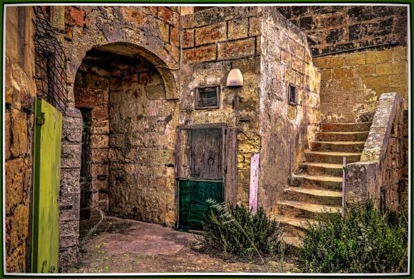 18th Century Maltese Farm House PORTICO by Edcat55