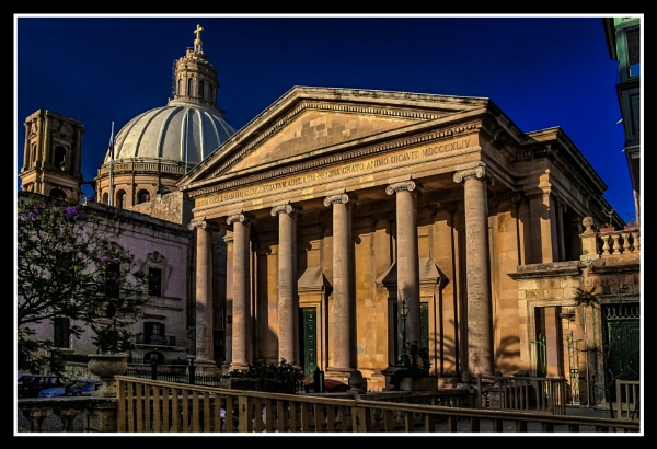 The Basilica of Our Lady of Mount Carmel adjacent to The Anglican Cathedral by Edcat55
