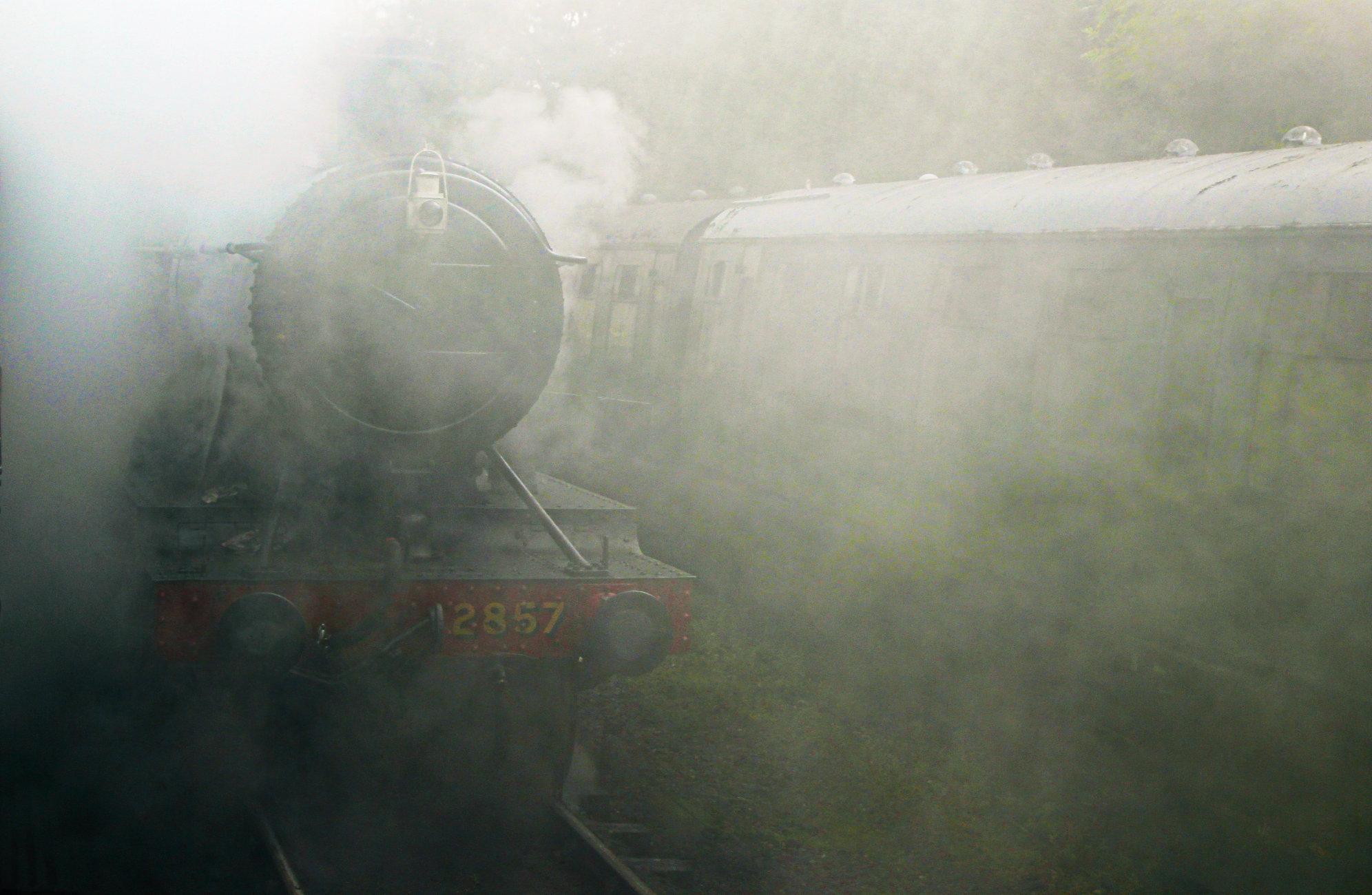 A steamy departure
