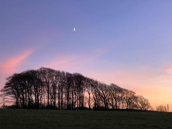 Hillside sunset by Kaxxie