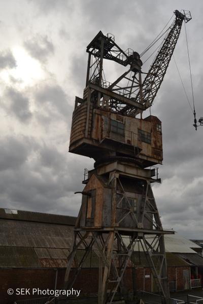 Dockyard crane by SusanKing