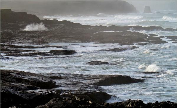 Stormy coast by JuBarney