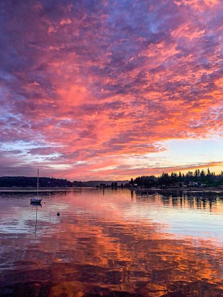Sunset over Port Orchard by StuartDavie