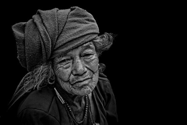 Old Nepali woman by sawsengee