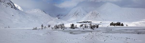 Winter on Rannoch moor by teepee