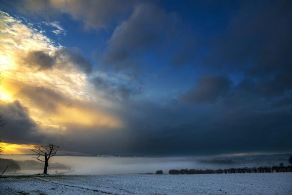 Evening Light Over Ashurst Beacon by Owdman