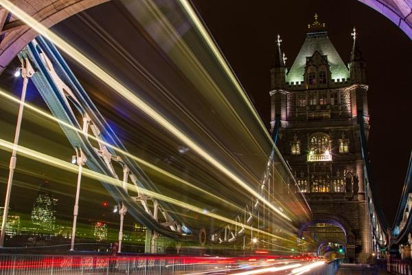 London Bridge Light Show by RonDM