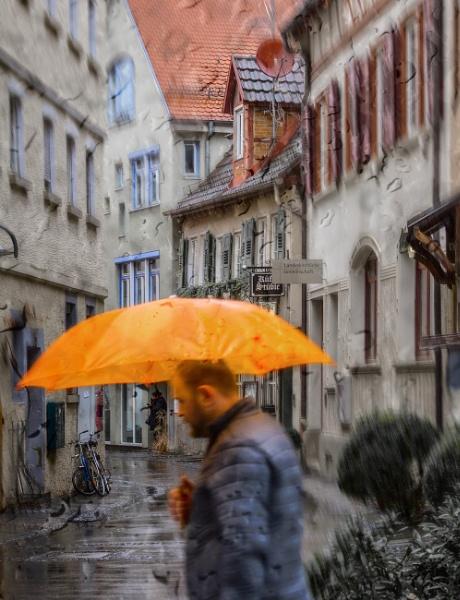 Rainy day in Stuttgart by ViVla