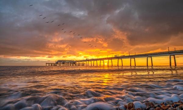 Deal Pier Sunrise 2 by carper123