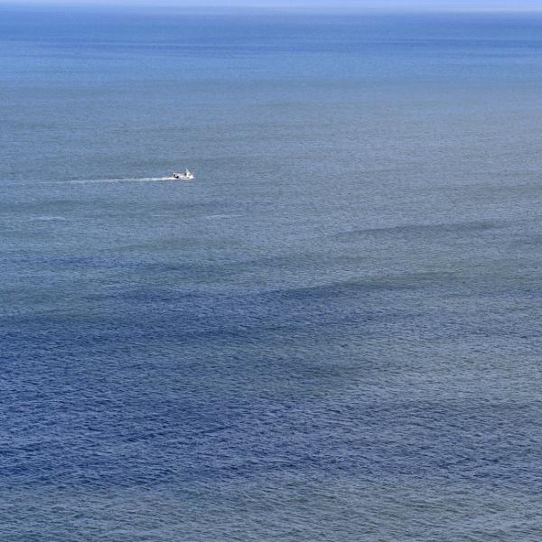 big sea, small boat by andart