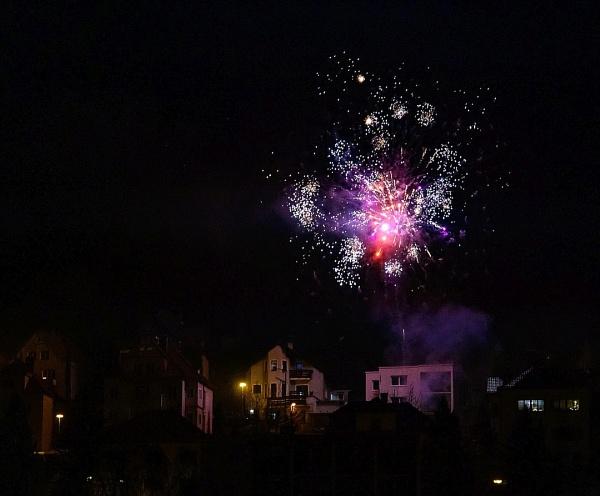 New Year firework over Luha by JaroTu