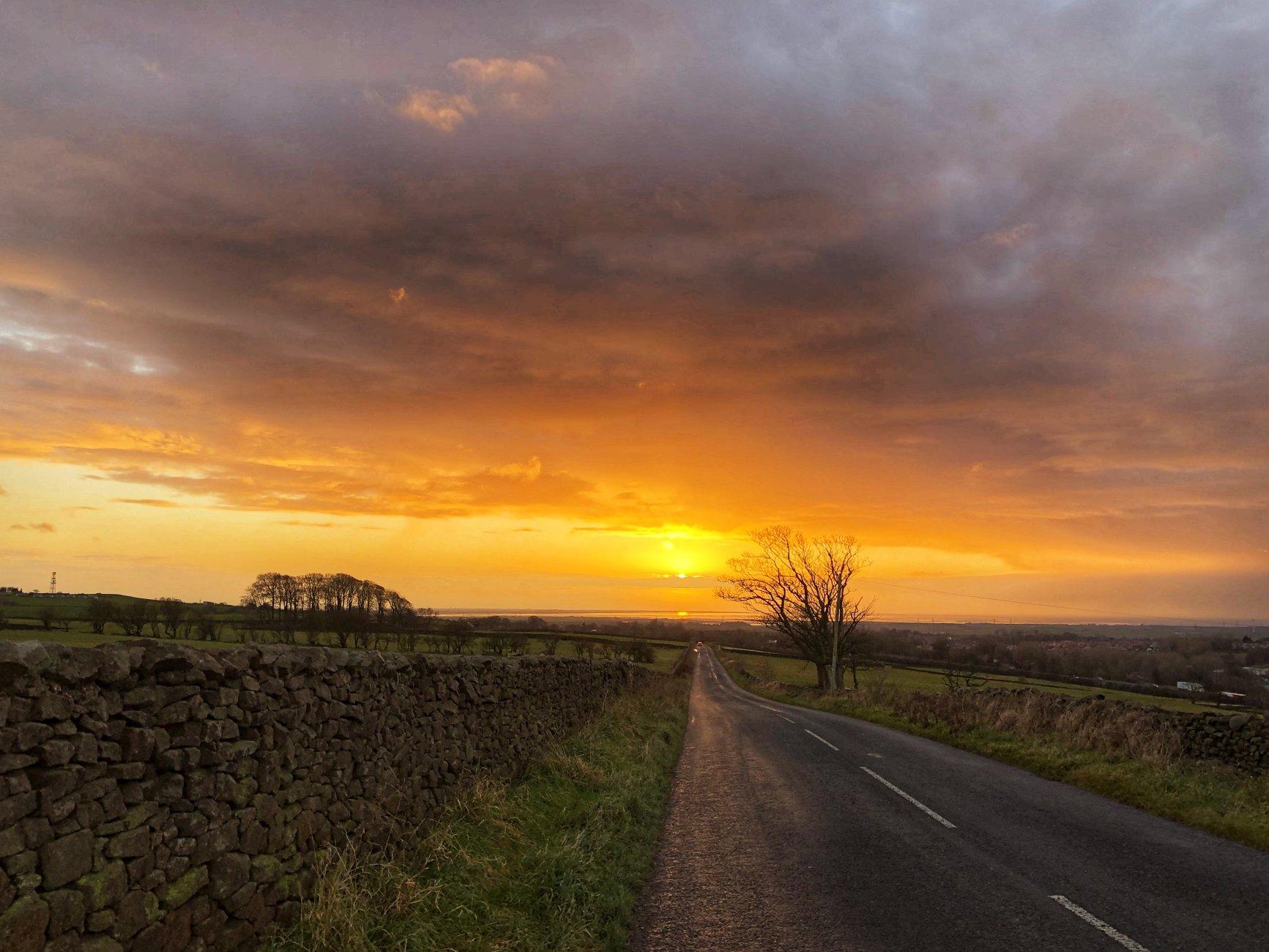 Walking to the setting sun