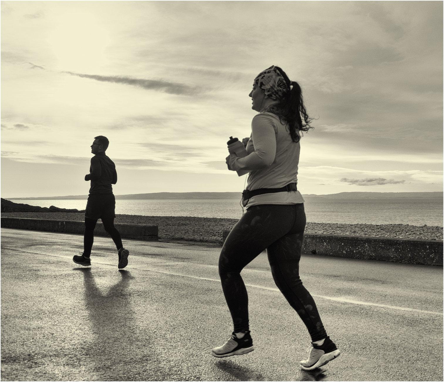 On the run.