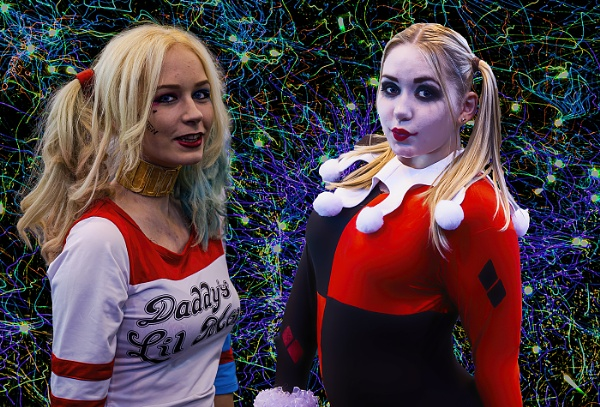 2 Harley Quinns by ugly