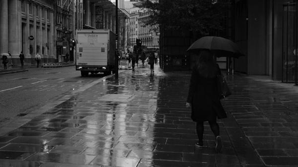 Wet walk to work by iNKFIEND