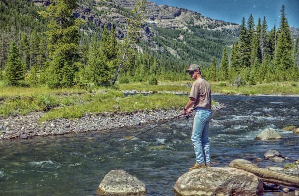 Fishing the Yellowstone by jbsaladino