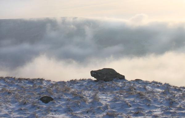 Mist rising over Alphin Pike by michaelfox