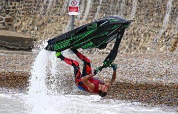 Jet ski, up and over