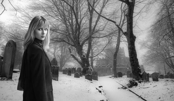 St. Wilfred\'s Churchyard & Pippa by Owdman