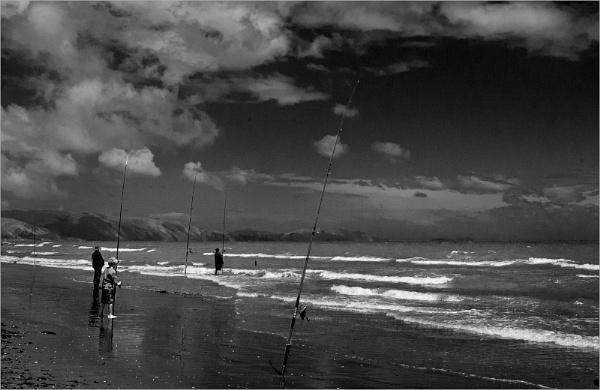 Fishermen on the Beach by AlfieK