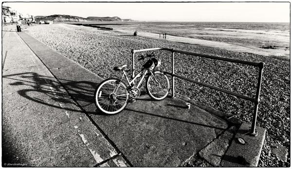 Bicycle - Marine Parade, Lyme Regis by starckimages