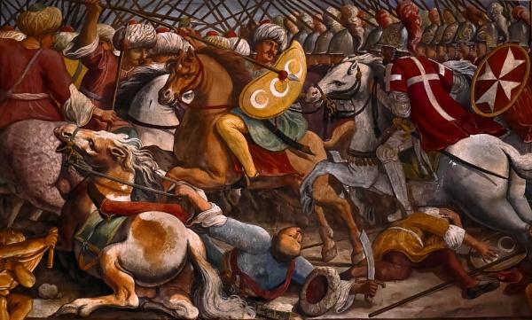 Maltese Knights Vs The Ottoman Empire the Great Siege of Malta (1565) by Matteo Perez d\'Aleccio. by Edcat55
