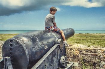 Boy on a canon