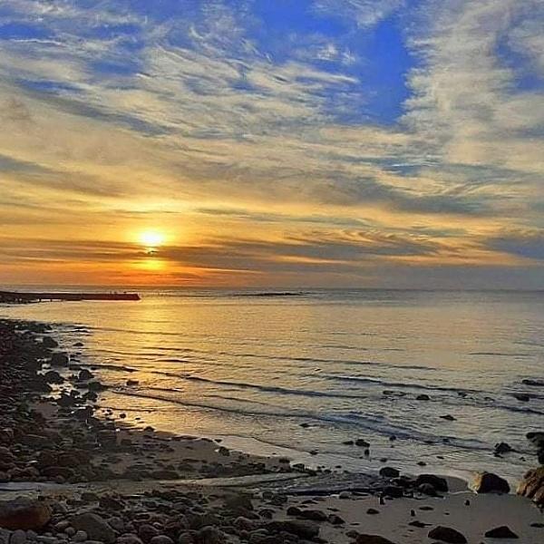 Sennen Cove Autumn sunset by Priestcove