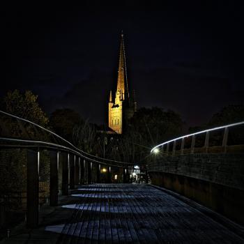 Norwich Cathedral off Jarrold Bridge