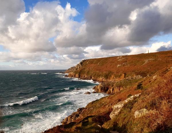 South west coast path view by Priestcove