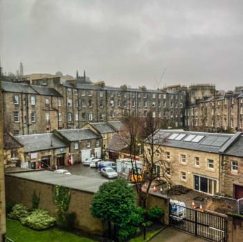 Misty Calton Hill, Edinburgh