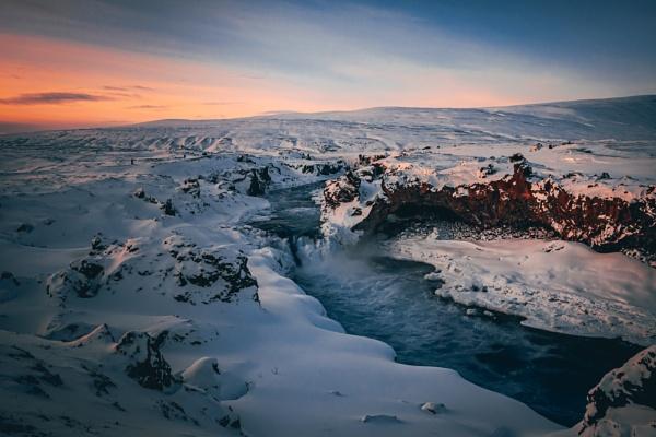 Godafoss Falls 2 by JohnDyer