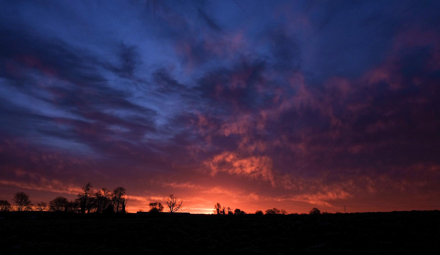 Colours of a sunrise