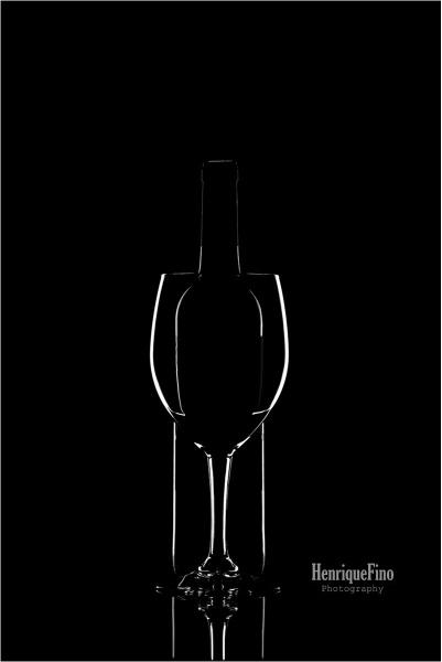 Wine bottle I by Lusitano