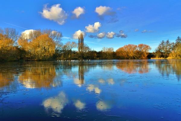 February on Charlton\'s Pond Billingham. by georgiepoolie