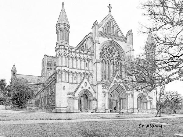 St. Albans Abbey by jimobee