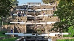 Five Rise Lock at Bingley, Yorkshire