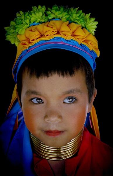 Red karen child of Northern Thailand by sawsengee