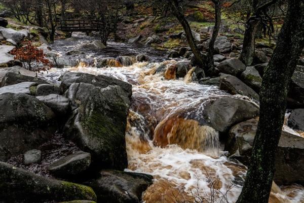 Raging river Derbyshire by RoyChilds